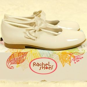 Girl Size 3 Bone Patent Leather Mary Jane Shoes